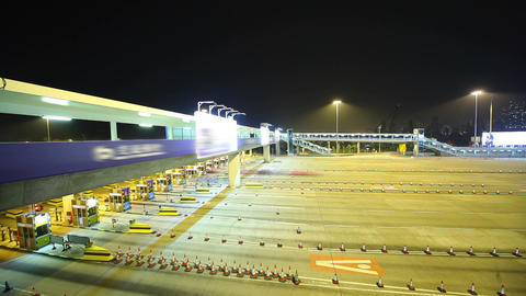Toll Booths In HongKong stock footage