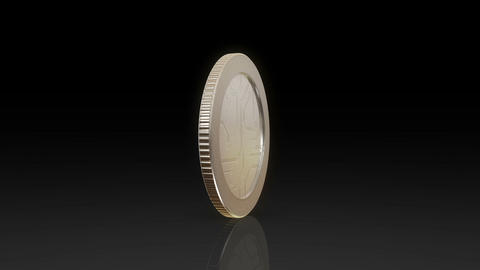 digital currency silver coin dark Animation