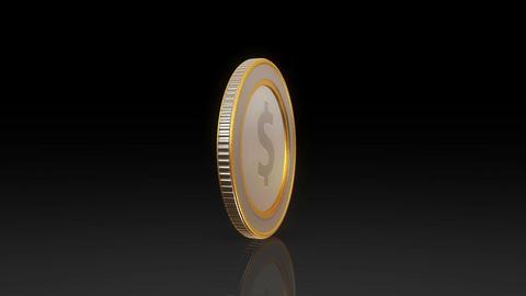dollar currency coin exchange dark Animation