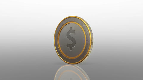 dollar currency coin exchange merge Animation