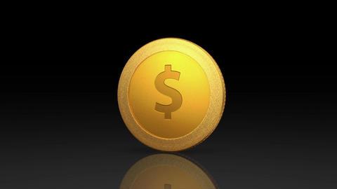 dollar currency gold coin exchange dark Animation