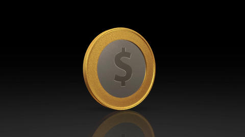 dollar currency gold silver coin exchange dark Animation