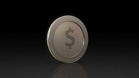 dollar currency silve coin exchange dark Animation