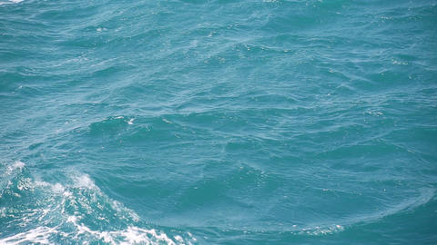 Sea Waves - Shooting From Boat stock footage