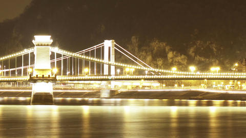 Budapest by Night Timelapse 106 Footage