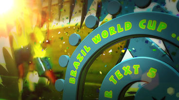 World Cup Brazil Party Samba After Effects stock footage