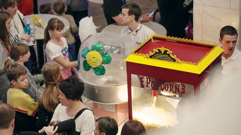 Popcorn and cotton candy sale Footage