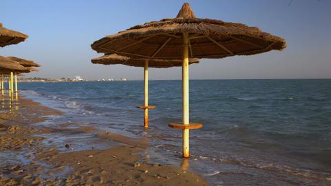 Sunbathing area on the beach Live Action