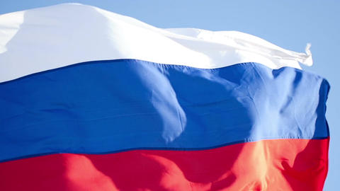 Flag of Russian Federation Footage