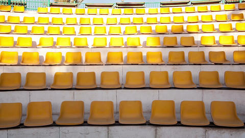 Rows Of Empty Seats stock footage