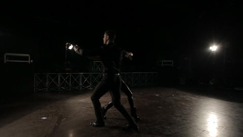 Professional dancers dancing in the studio Footage