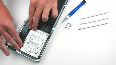 Laptop Hard Drive Replacement stock footage