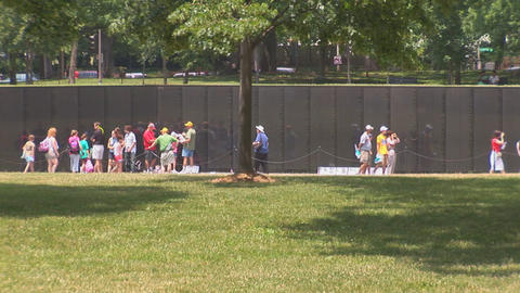 The Vietnam Veterans Memorial Footage