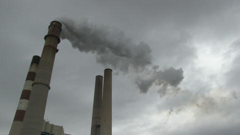 Smokestacks wide HD Footage