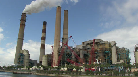 Coal Power plant Footage