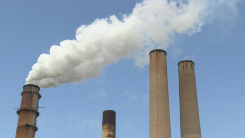 Smokestack stock footage