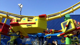 Amusement Park Kiddie Ride stock footage
