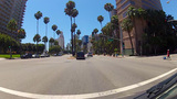 Driving Ocean Boulevard In Downtown Long Beach CA stock footage