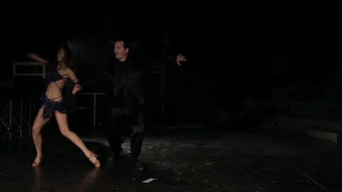 Professional dancers dancing in the studio Footage