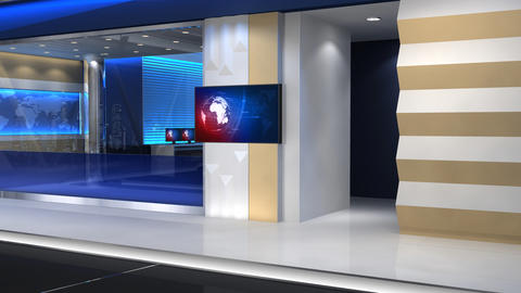 News Studio 101 C2 stock footage