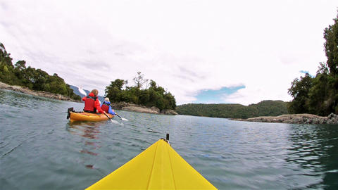 Point of view kayaking along the Bahia Tictoc coas Live Action