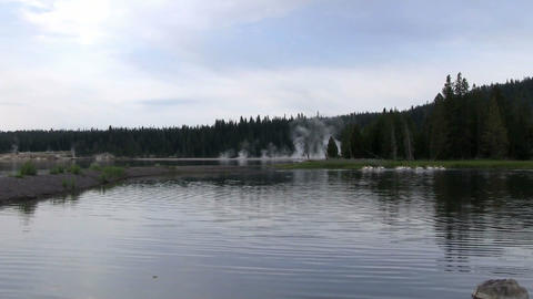 A Lake In Yellowstone National Park stock footage