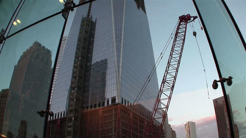 One World Trade Center in New York under construct Footage
