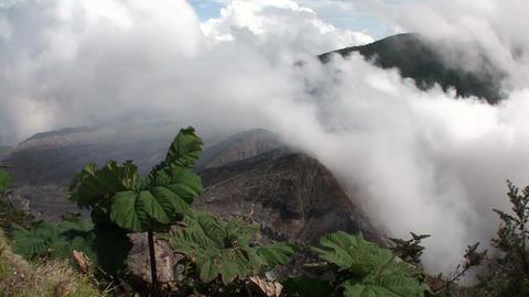 Handheld shot of the Poas volcano in Costa Rica sm Footage