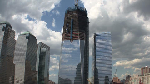 One World Trade Center under construction Live Action