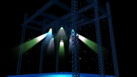 Beautiful stage lighting,spotlights shine & rock... Stock Video Footage