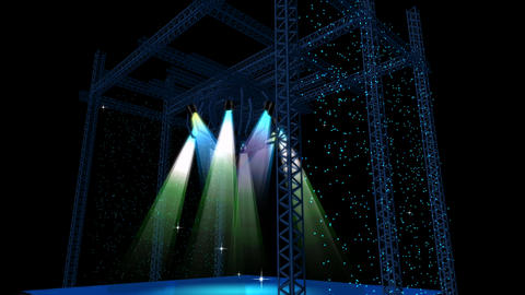 Beautiful stage lighting,spotlights shine & rock performances in Nightclub Animation