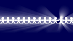 PAPER CHAIN PEOPLE WITH VOLUMETRIC LIGHT EFFECT Animation