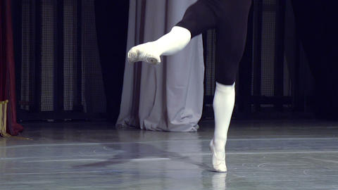 Ballet Dancer On Stage stock footage