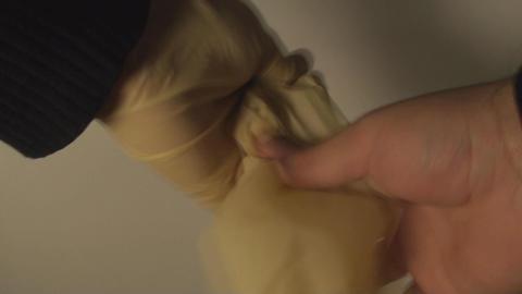 Man Removing Latex Gloves, Hospital, Hygiene, Prot Footage