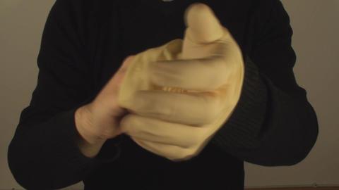 Man Removing Latex Gloves, Hospital, Hygiene, Prot Live Action