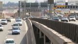 Traffic On Moscow Rush Hour stock footage