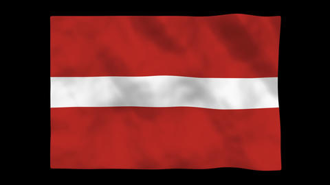 Flag A082 LVA Latvia Animation