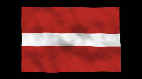 Flag A082 LVA Latvia Stock Video Footage