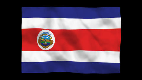 Flag A084 CRI Costa Rica Stock Video Footage