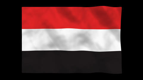 Flag A088 YEN Yemen Animation