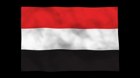 Flag A088 YEN Yemen Stock Video Footage
