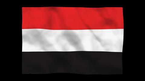 Flag A088 YEN Yemen Stock Video Footage