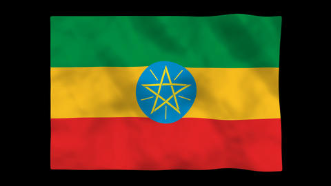 Flag A090 ETH Ethiopia Stock Video Footage