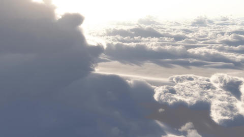 (1153) Dramatic High Altitude Clouds Aerial Heaven Stock Video Footage