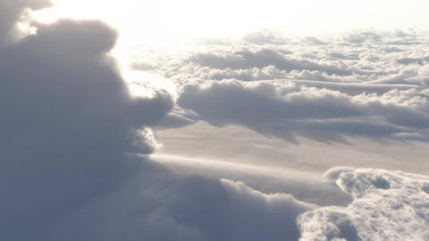 (1153) Dramatic High Altitude Clouds Aerial Heaven Footage