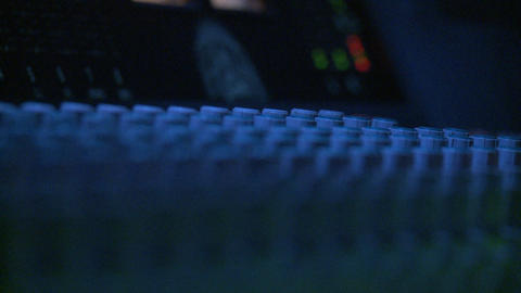 Mixing Board Knobs Stock Video Footage