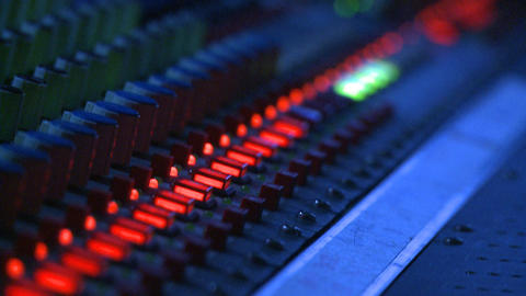 Mixing Board Controls Stock Video Footage