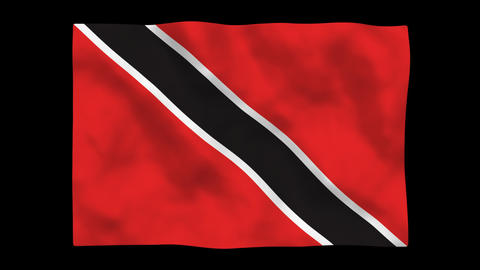 Flag A092 TTO Trinidad and Toba Stock Video Footage