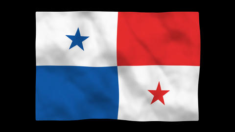 Flag A096 PAN Panama Stock Video Footage