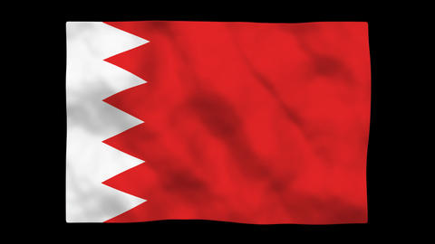 Flag A098 BHR Bahrain Stock Video Footage